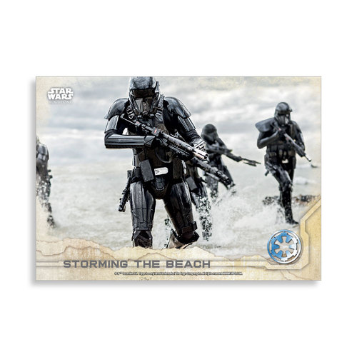 Storming the Beach 2016 Star Wars Rogue One Series One Base Poster - # to 99