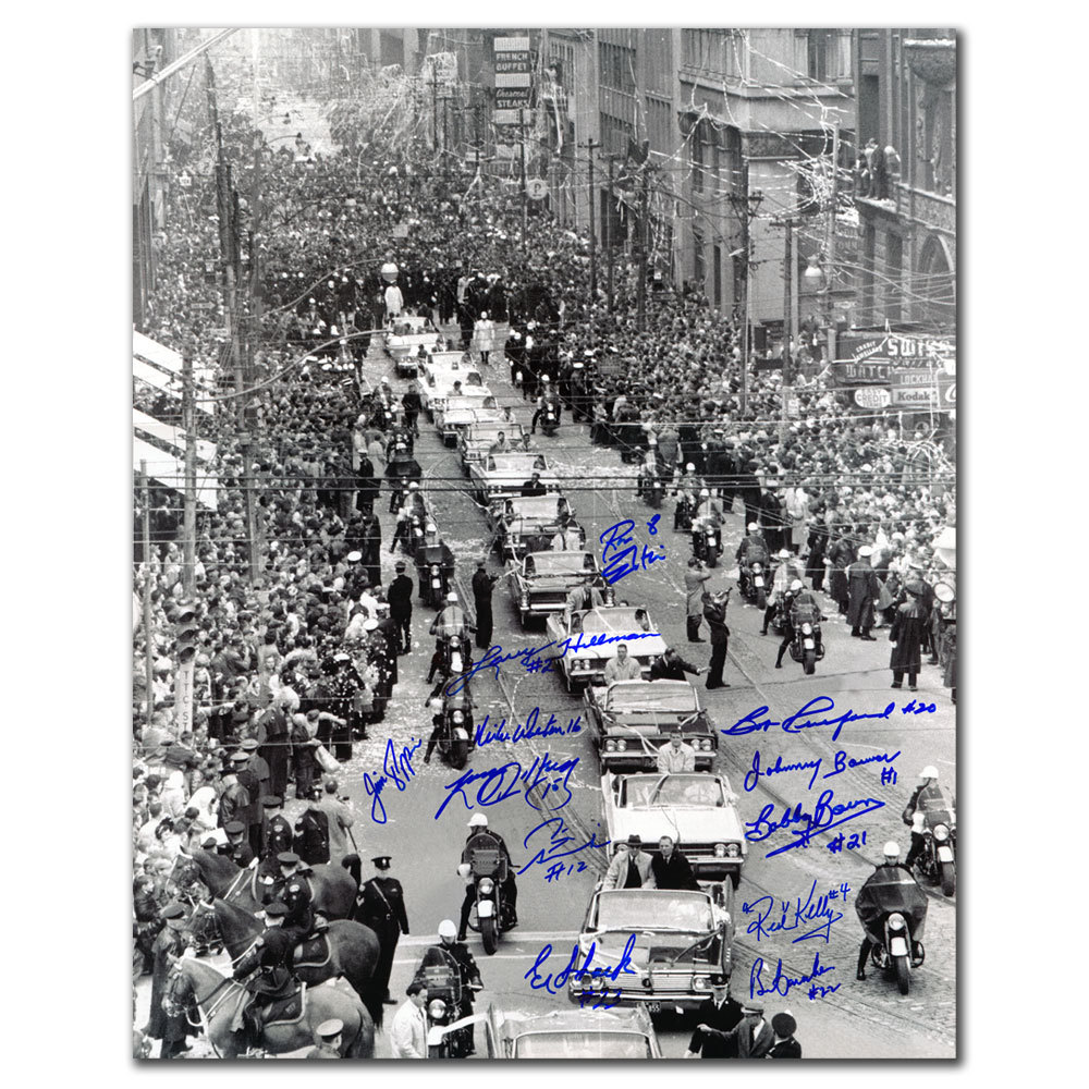 1967 Toronto Maple Leafs Stanley Cup Parade Autographed 16x20 Signed by 12