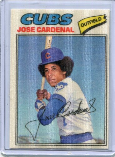 Photo of 1977 Topps Cloth Stickers #9 Jose Cardenal