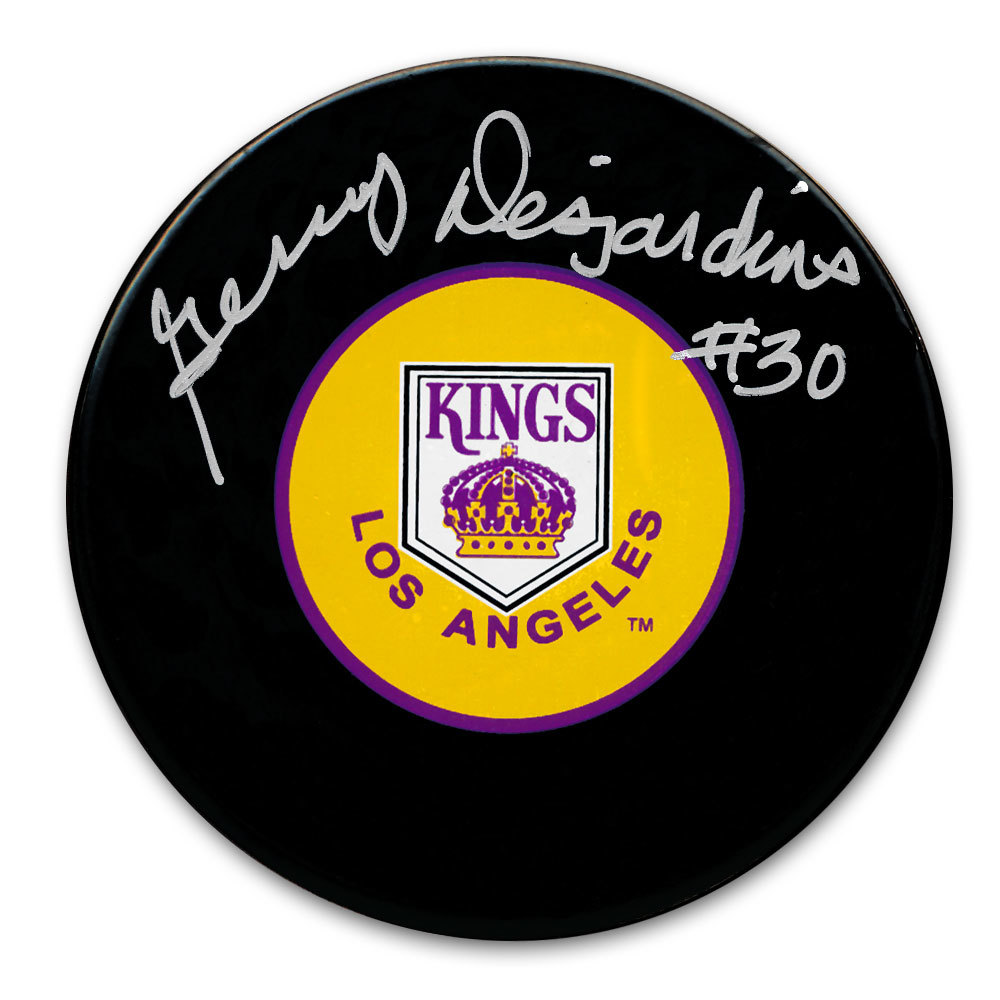 Gerry Desjardins Los Angeles Kings Autographed Puck
