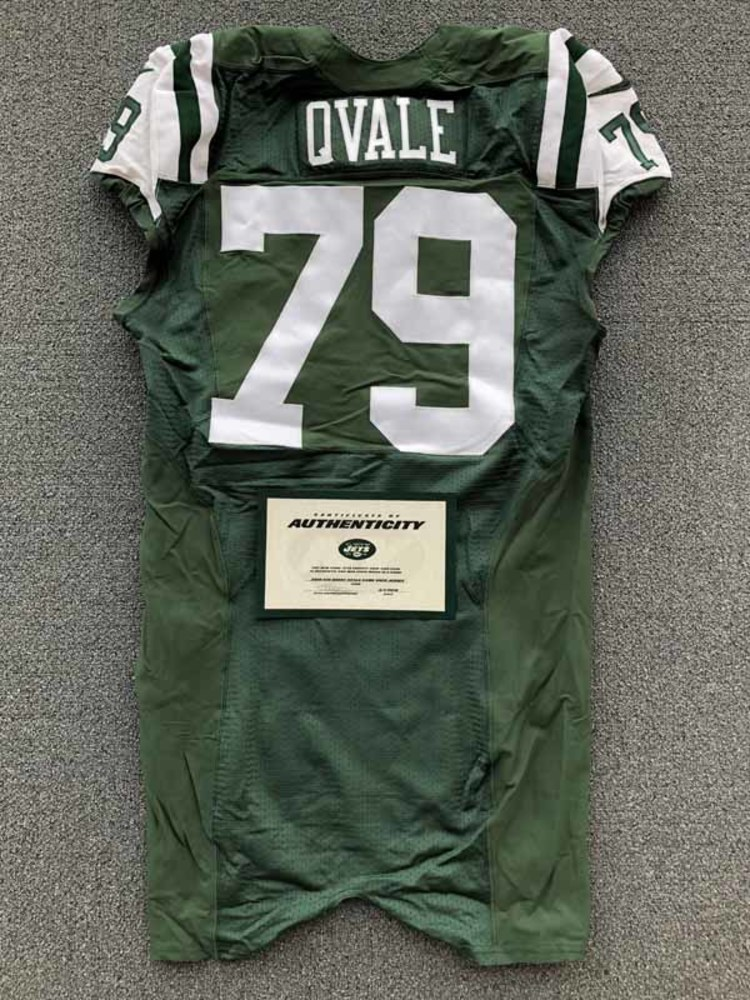 New York Jets - 2016 #79 Brent Qvale Game Worn Jersey