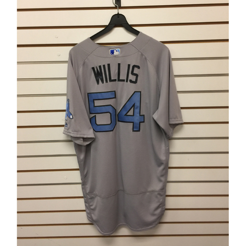 Photo of Carl Willis Game-Used June 18, 2017 Father's Day Road Jersey