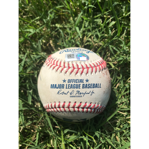 Photo of Cardinals Authentics: Game-Used Baseball Pitched by Jordan Hicks to Justin Turner and Manny Machado *Single, Ball in Dirt*