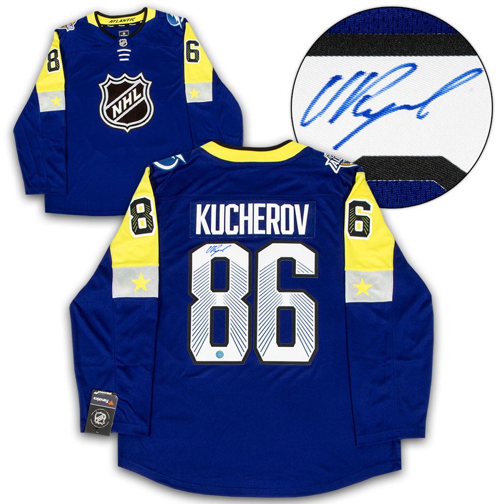 Nikita Kucherov 2018 All Star Game Autographed Fanatics Hockey Jersey *Tampa Bay Lightning*