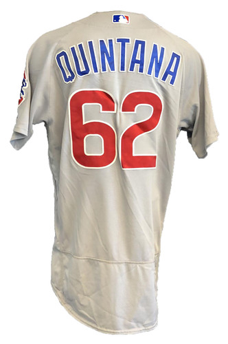 Photo of Jose Quintana Game-Used Jersey -- Cubs at Marlins -- 4/16/19 -- Size 46