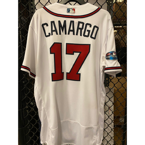 Photo of Johan Camargo Game Used Jersey from 2018 NLDS - Worn 10/8/2018