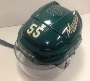 Minnesota Wild #55 Matt Dumba Game-Used Autographed Helmet