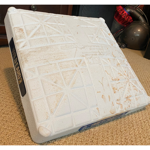 Photo of Game-Used Third Base: Wildcard Game Milwaukee Brewers at Los Angeles Dodgers - September 30, 2020 - Innings 7-8