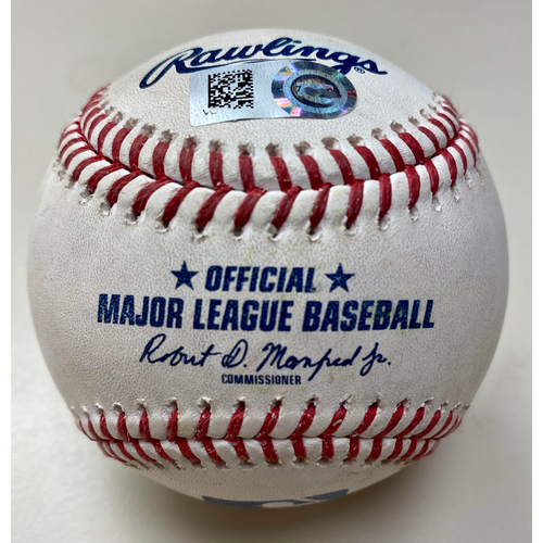Photo of Game-Used Baseball:  Zach Plesac Cleveland Indians Strikeout (MLB AUTHENTICATED)