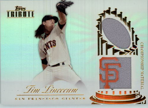 Photo of 2012 Topps Tribute Championship Material Dual Relics #TL Tim Lincecum