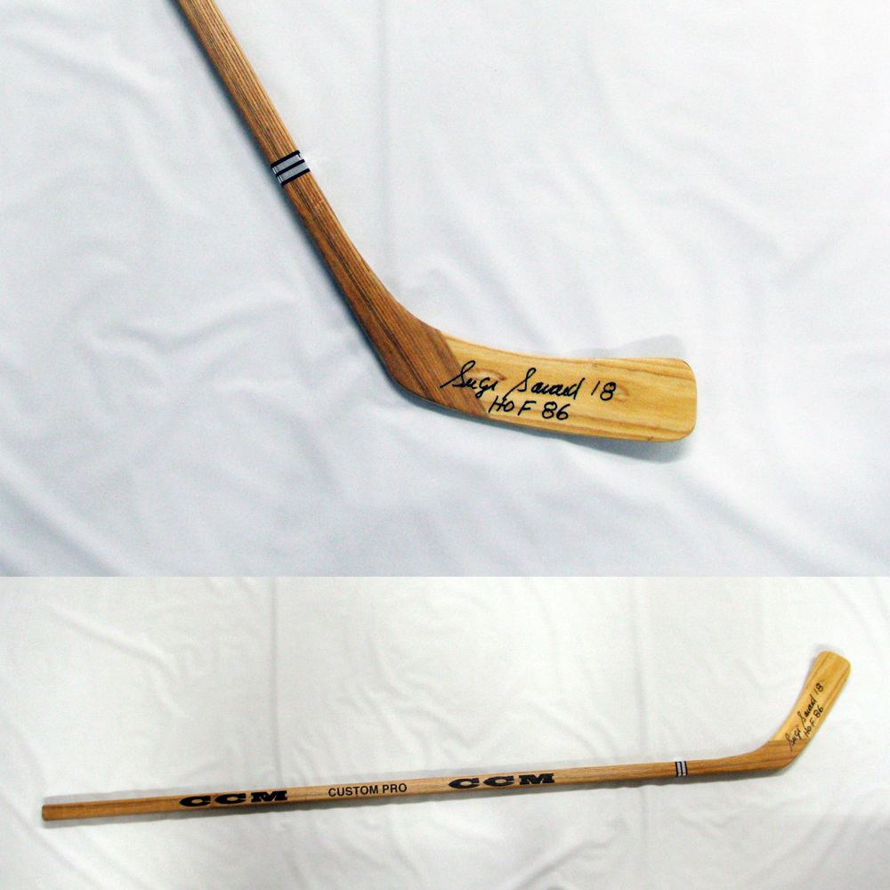 SERGE SAVARD Signed CCM Stick Inscribed HOF 86 - Montreal Canadiens