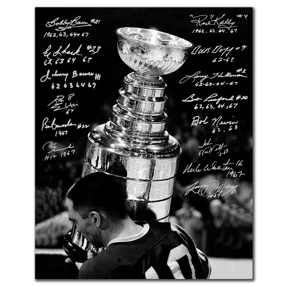 Toronto Maple Leafs All-Time Stanley Cup Champions Autographed 16x20 Signed by 14