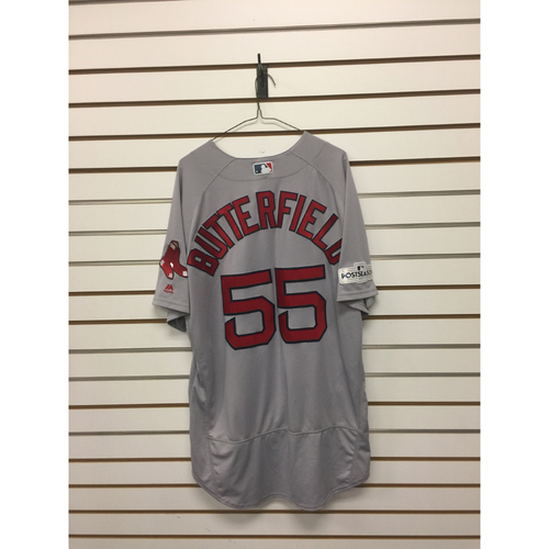 Brian Butterfield Game-Used October 5, 2017 ALDS Game 1 Road Jersey