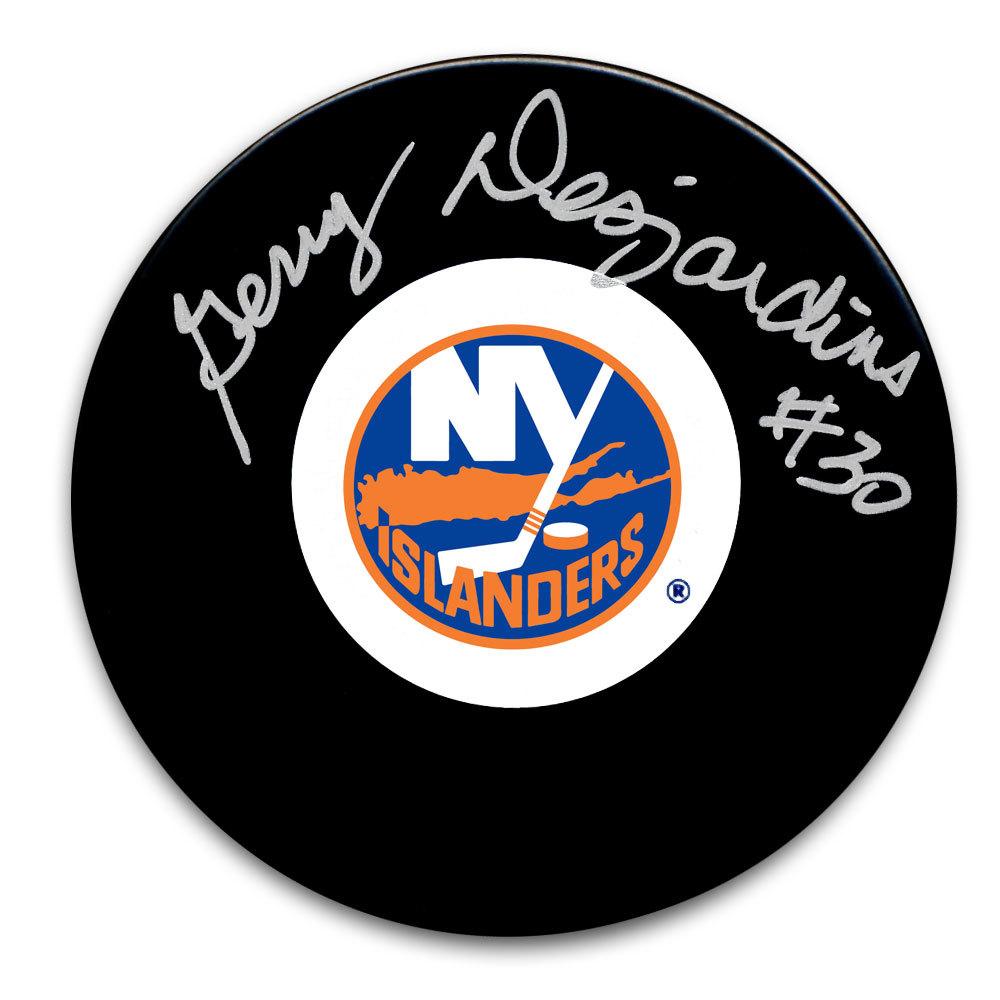 Gerry Desjardins New York Islanders Autographed Puck