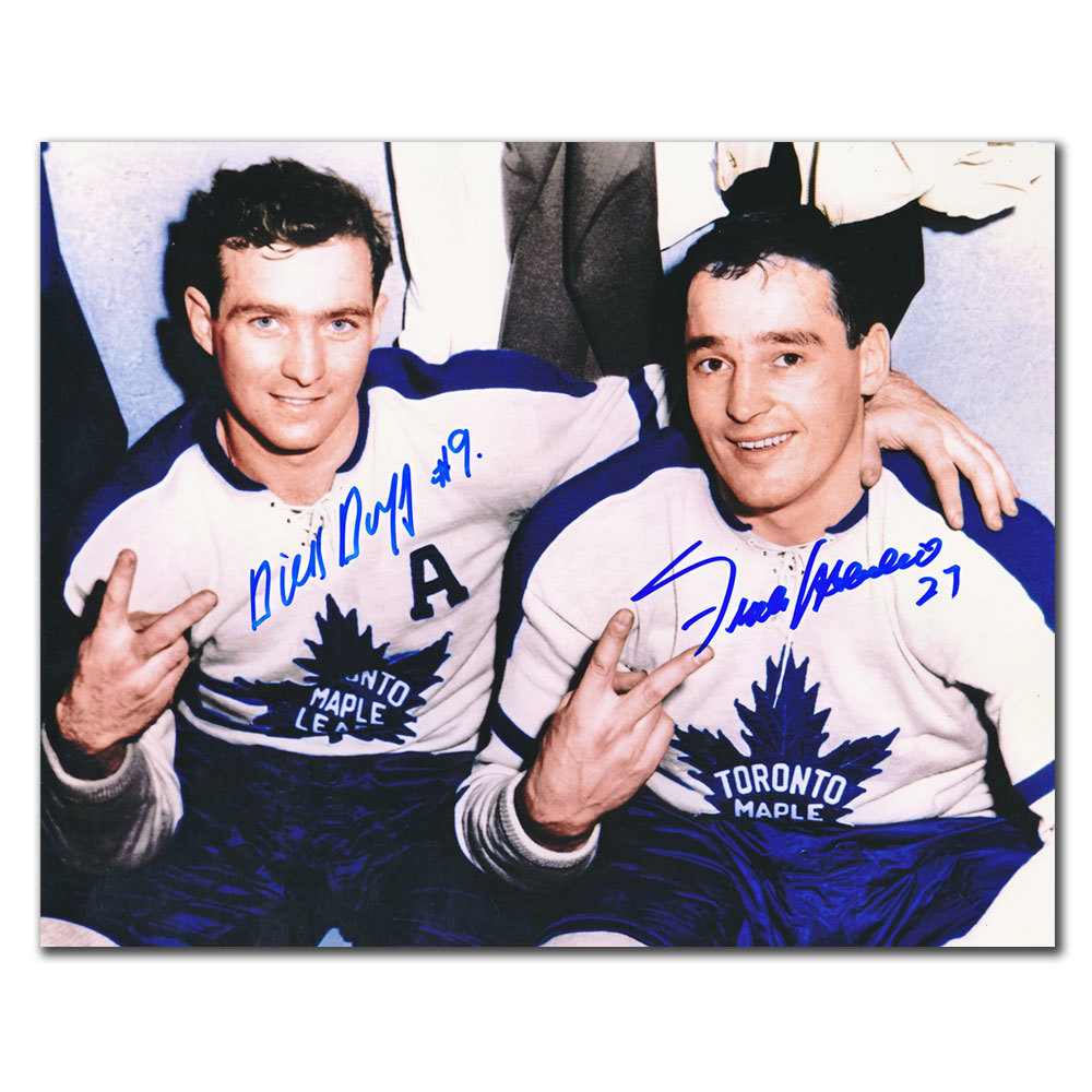 Dick Duff & Frank Mahovlich Toronto Maple Leafs Dual Autographed 8x10