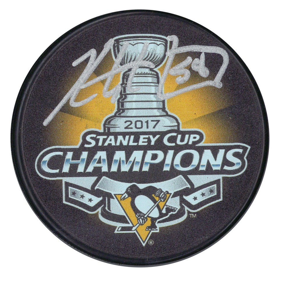 Kris Letang - Signed Puck Pittsburgh Penguins 2017 Stanley Cup Champions