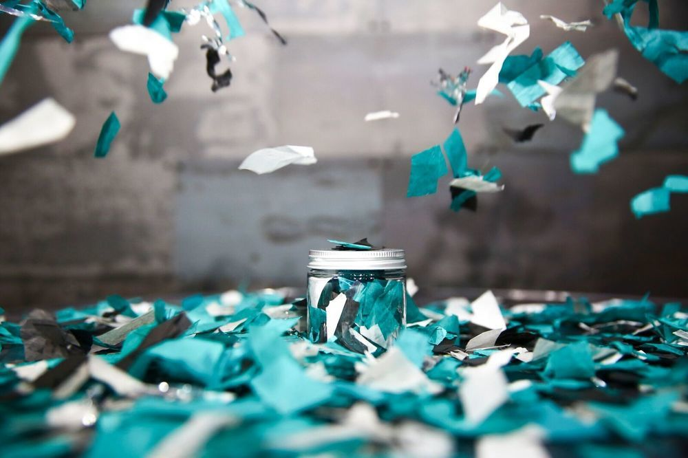 Eagles - Super Bowl LII Confetti From US Bank Stadium In Minneapolis