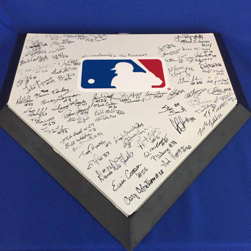 Photo of UMPS CARE AUCTION: 2018 MLB Umpire Signed Home Plate - Not MLB Authenticated