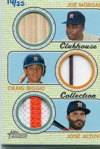 Photo of 2017 Topps Heritage Clubhouse Collection Triple Relics Craig Biggio/Jose Altuve/Joe Morgan 14/25