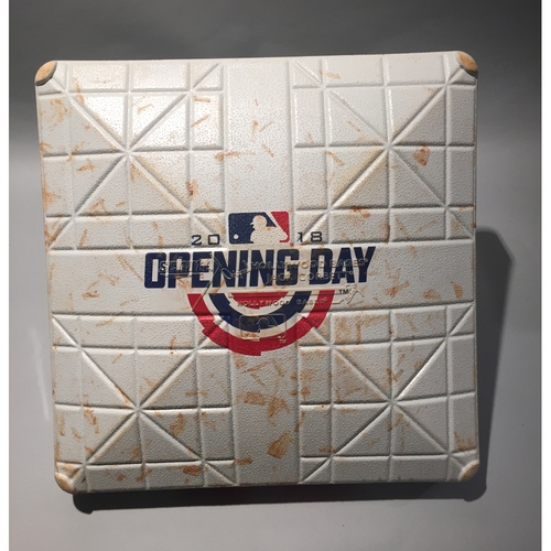 2018 Houston Astros Opening Day Base - 3rd Base used 7th-9th innings