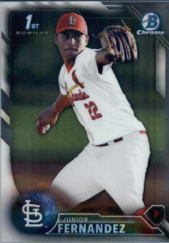 Photo of 2016 Bowman Chrome Prospects #BCP176 Junior Fernandez