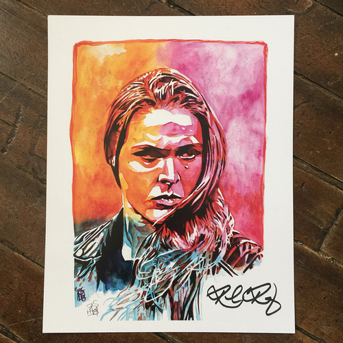 Photo of Ronda Rousey SIGNED 11 x 14 Rob Schamberger Print