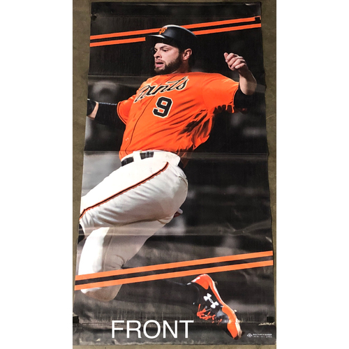 Photo of San Francisco Giants - 2018 Street Banner - 60th Anniversary - Brandon Belt