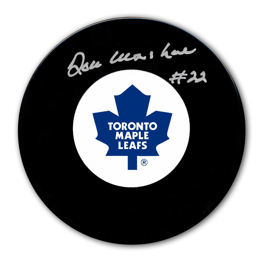 Don Marshall Toronto Maple Leafs Autographed Puck