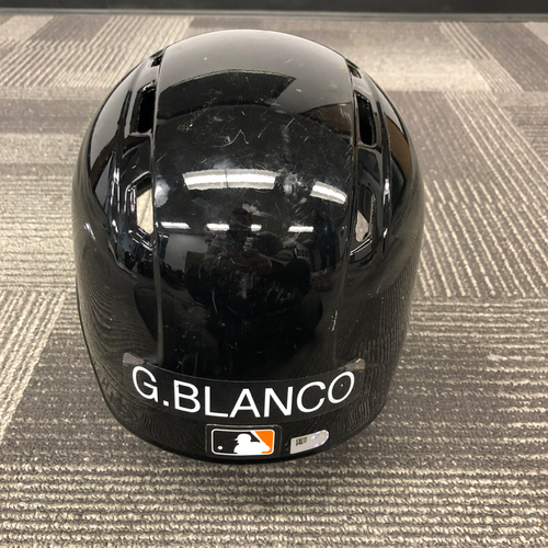 Photo of 2018 Game Used Spring Training Batting Helmet - worn by #1 Gregor Blanco - Left Handed Helmet - Size 7 1/4