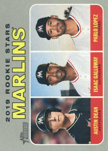 Photo of 2019 Topps Heritage #391 Austin Dean RC/Isaac Galloway RC/Pablo Lopez RC