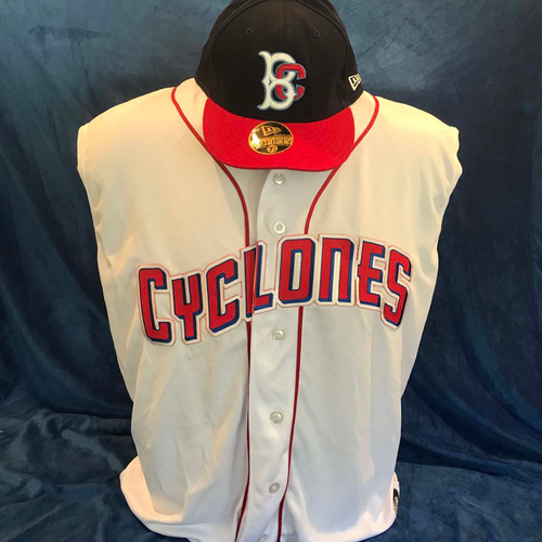 UMPS CARE AUCTION: Brooklyn Cyclones Sleeveless Jersey and Hat, Size 2XL & Size 7 3/4