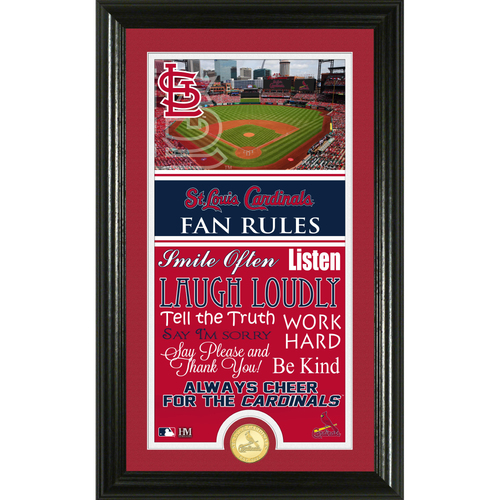 Photo of St. Louis Cardinals Fan Rules Supreme Bronze Coin Photo Mint