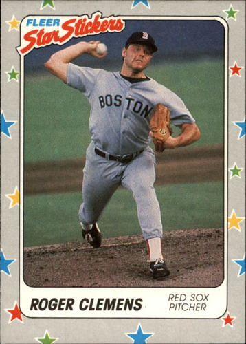 Photo of 1988 Fleer Star Stickers #7 Roger Clemens