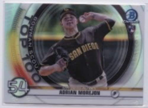 Photo of 2020 Bowman Chrome Scouts Top 100 #BTP54 Adrian Morejon
