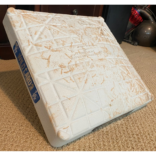 Photo of Game-Used First Base: Wildcard Game Milwaukee Brewers at Los Angeles Dodgers - October 1, 2020 - Innings 1-4