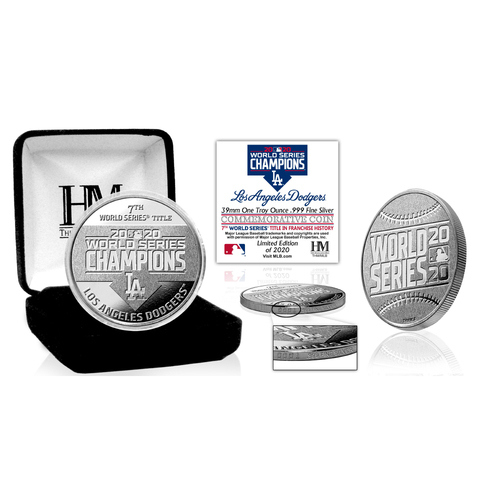Photo of Los Angeles Dodgers 2020 World Series Champions 1oz .999 Pure Silver Mint Coin