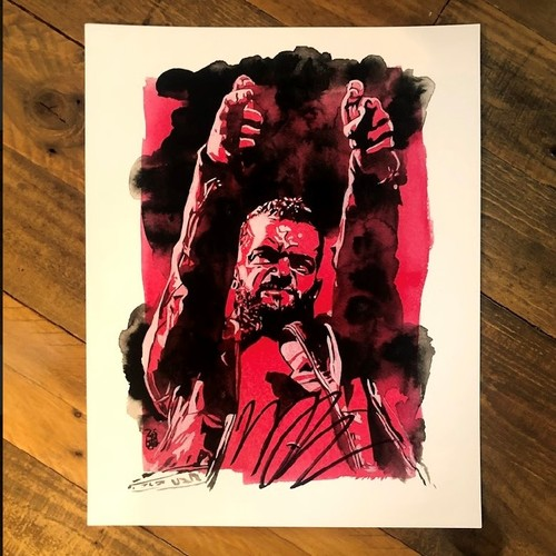 Photo of Finn Balor SIGNED Rob Schamberger 11 x 14 Art Print (2021)