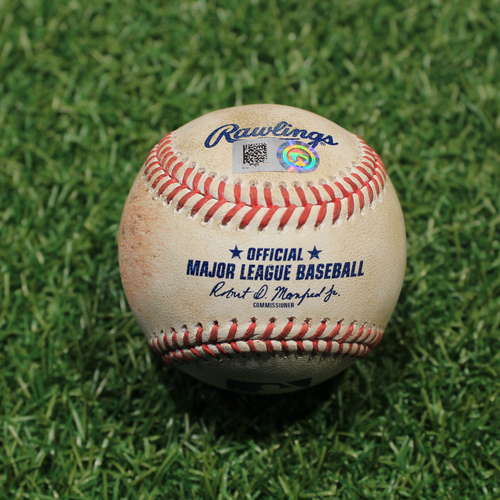 Photo of Game-Used Baseball: Scott Barlow 38th Career Strikeout (9/24/20 DET @ KC)