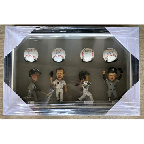 Photo of 2005 Bobblehead and Autographed Baseball Frame (Framed) - Dye, Jenks, Konerko, Podsednik - PICK UP ONLY