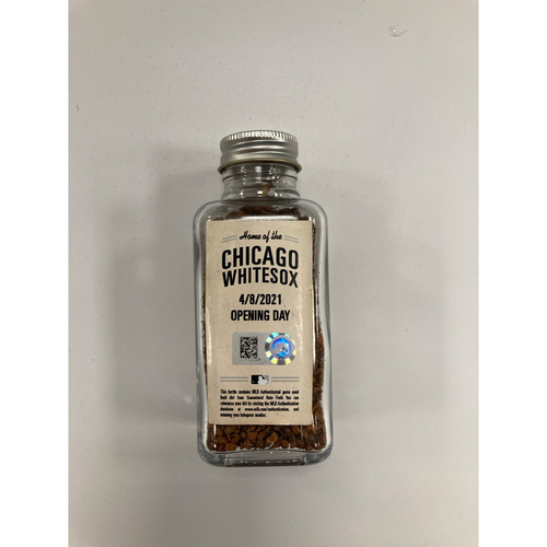 Photo of Game-Used Dirt from April 8, 2021: White Sox Home Opener