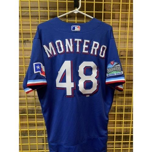 Photo of Team-Issued Rafael Montero Blue Jersey