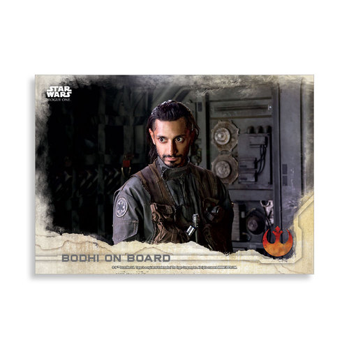 Bodhi on Board 2016 Star Wars Rogue One Series One Base Poster - # to 99