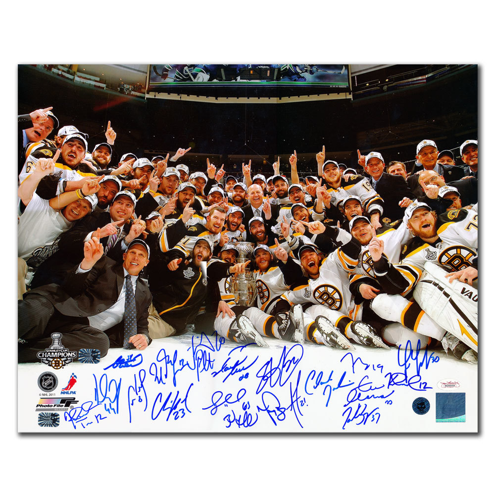 2011 Boston Bruins Stanley Cup Champions Team Autographed
