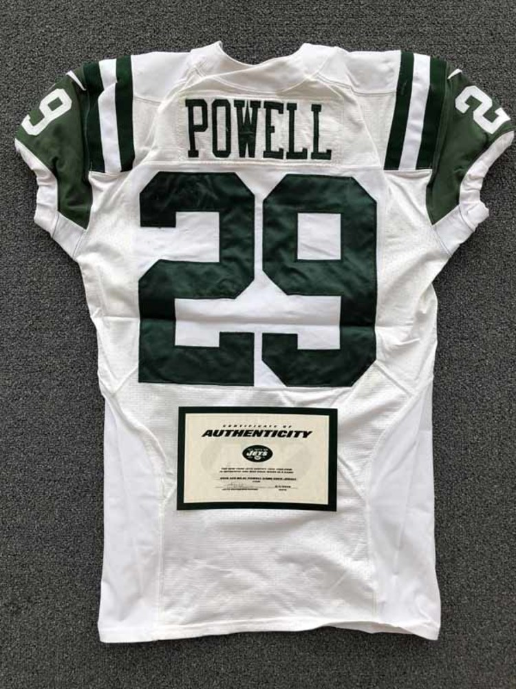 New York Jets - 2016 #29 Bilal Powell Game Worn Jersey