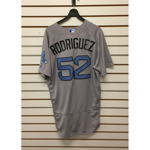Photo of Eduardo Rodriguez Team-Issued June 18, 2017 Father's Day Road Jersey