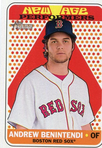 Photo of 2018 Topps Heritage New Age Performers #NAP17 Andrew Benintendi