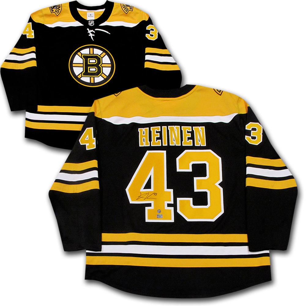 Danton Heinen Autographed Boston Bruins Fanatics Jersey