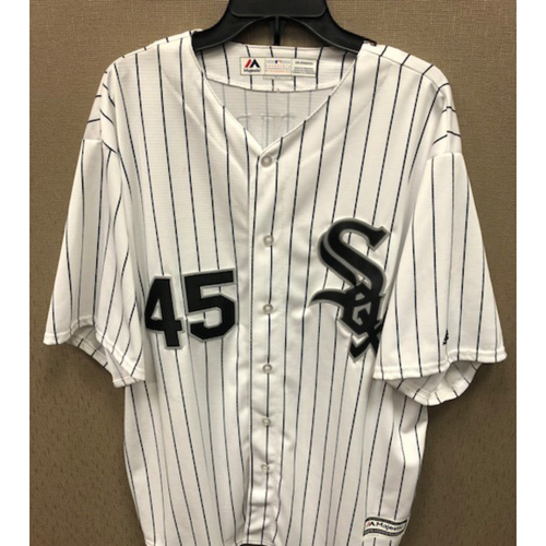 Photo of Bobby Jenks Autographed White Pinstripe Jersey - Size 2XL
