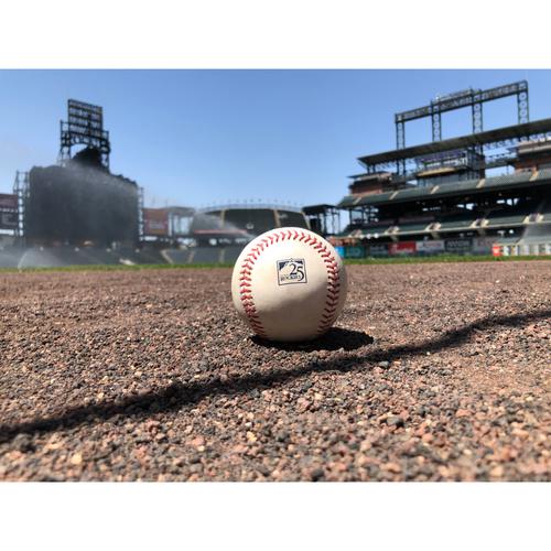 Colorado Rockies Game-Used Baseball - Pitcher: German Marquez v. Batter: Paul Goldschmidt - Double - June 8, 2018