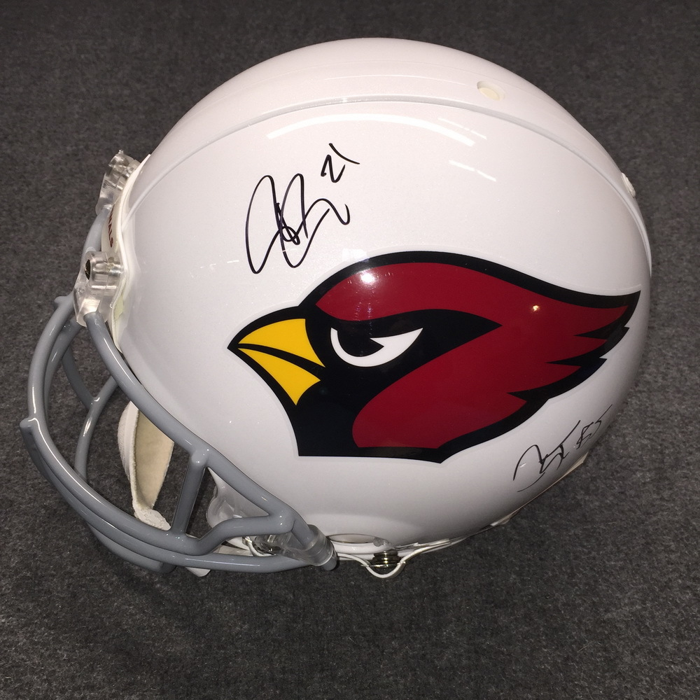 NFL - Cardinals Patrick Peterson and Chandler Jones signed Cardinals proline helmet